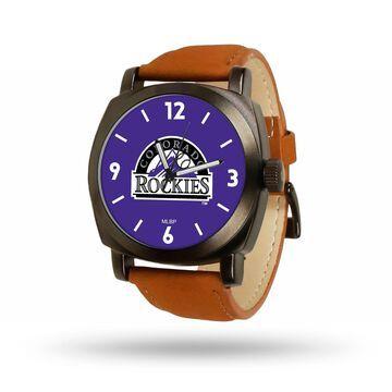 Sparo Colorado Rockies Brown Strap Watch