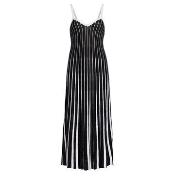 REDValentino Godet Pleats Knit Midi Dress