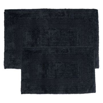 100 Percent Cotton Mats by Lavish Home, Black