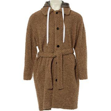 Msgm Brown Wool Coats