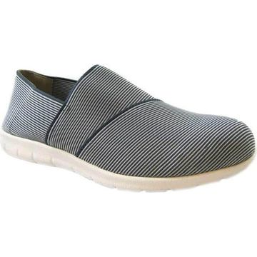 Beacon Shoes Women's Sandy Sneaker Blueberry Stretch Fabric