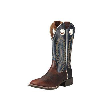 Ariat Western Boots Mens Heritage High Plains Caramel Blue