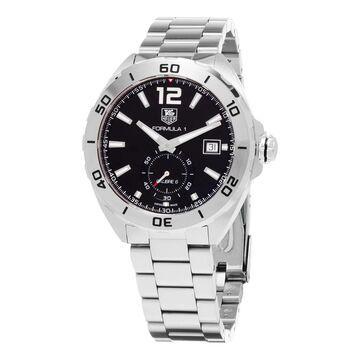 Tag Heuer Men's 'Formula 1' Black Dial Stainless Steel Bracelet Swiss Automatic Watch (Men's)