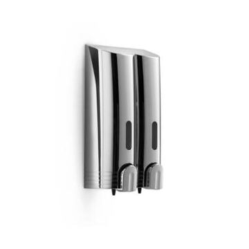 Ws Bath Collections Wsbc Double Wall Mount Soap Dispenser in Polished Chrome Bedding