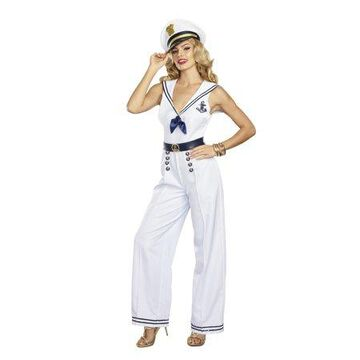 Dreamgirl Women's Anchors Away! Sailor Costume Jumpsuit
