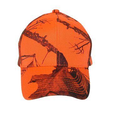 CTM Men's Mossy Oak Break Up Blaze Orange Baseball Hat