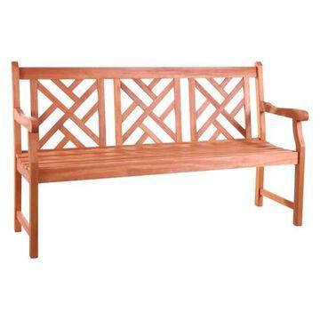 Vifah Atlantic Mahogany Shorea Hardwood Bench