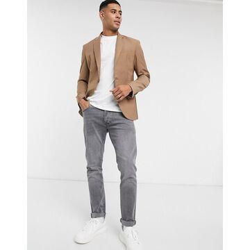 New Look skinny suit jacket in tan