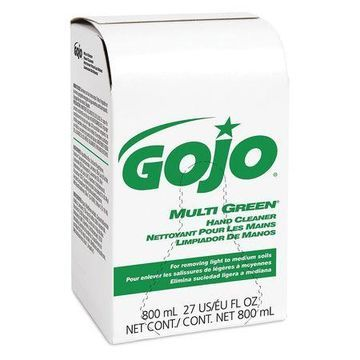 GOJO 9172-12 Bag-in-Box Green Gel Hand Soap, citrus, 800ml Dispenser Refill