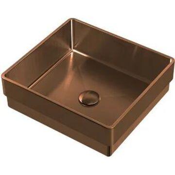 "Whitehaus WHNPL1577 Noah Plus 15-3/4"" Stainless Steel Vessel Bathroom"