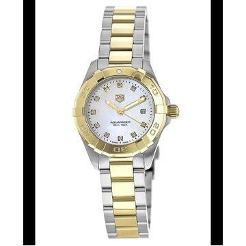 Tag Heuer Aquaracer Lady 300M 27MM Yellow Gold & Steel Diamond Dial Women's Watch WBD1422.BB0321 WBD1422.BB0321