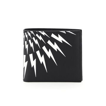 Neil barrett fair-isle thunderbolt wallet