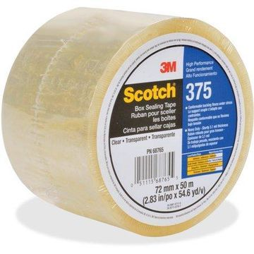 Scotch, MMM37572X50CL, Box-Sealing Tape, 24 / Carton, Clear