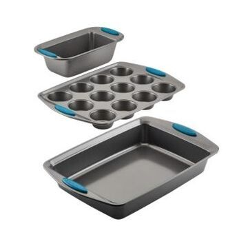 Rachael Ray Yum-o! 3-Pc. Bakeware Oven Lovin' Nonstick Muffin, Loaf, and Cake Pan Set