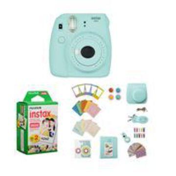 Fujifilm Instax Mini 9 Camera, Ice Blue - Bundle With Fujifilm instax mini Instant Daylight Film Twin Pack, 20 Exposures, FujiFilm Instax Mini 9 Accessory Kit