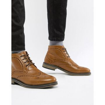 New Look Brogue Boot-Tan