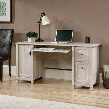 Sauder Edge Water Computer Desk, Chalked Chestnut