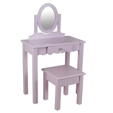 Kids Decor Therapy Vivian Vanity & Stool 2-piece Set, Pink