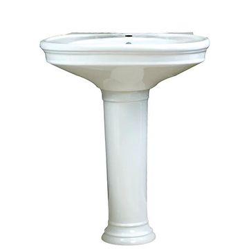 Decolav Vitreous China Pedestal Sink - White (White)