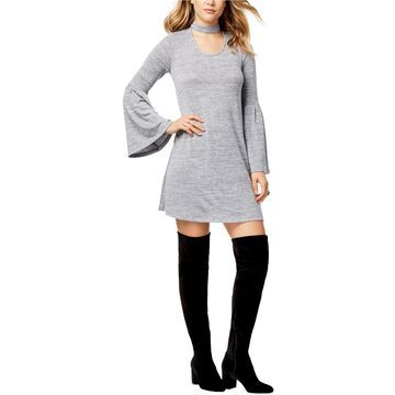 Kensie Womens Bell Sleeve Shift Dress