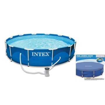 Intex 10-ft x 10-ft x 30-in Round Above-Ground Pool | 55639