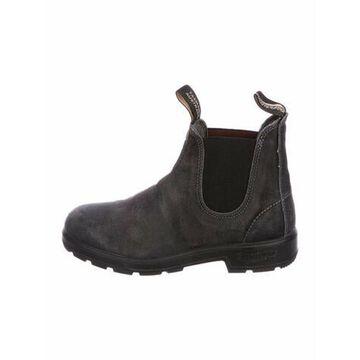 Suede Grosgrain Trim Chelsea Boots Black