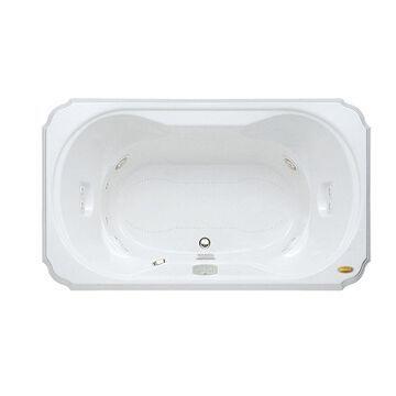 Jacuzzi Marineo 66-in White Acrylic Rectangular Center Drain Drop-In Whirlpool Bathtub and Air Bath