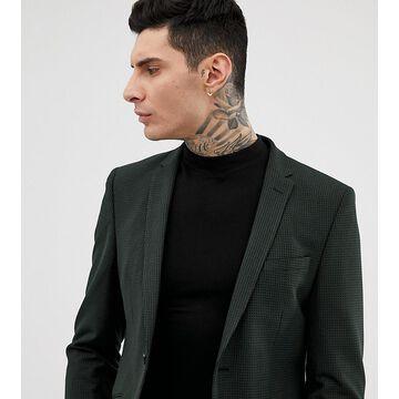 Heart & Dagger slim suit jacket in mini pattern-Black