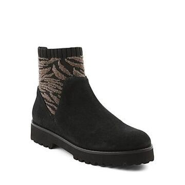 Andre Assous Women's Sara Fabric Panel Suede Booties
