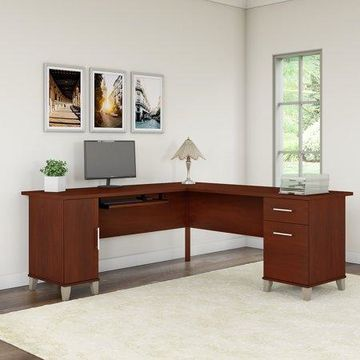 Bush Furniture Somerset 72W L Shaped Desk in Hansen Cherry