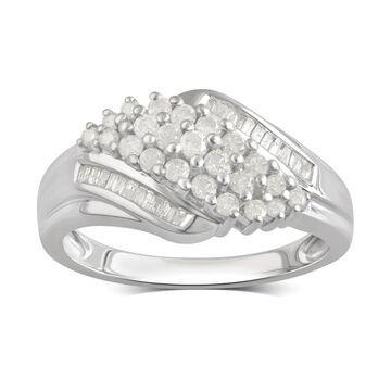 Divina Sterling Silver 1/2ct TDW Diamond Anniversary Ring