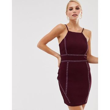 AX Paris square neck mini dress-Purple