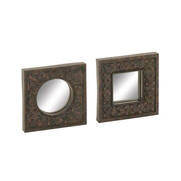 Studio 350 PS Mirror Wall Decor Set of 2, 11 inches wide, 11 inches high (54868 - Set of 2 Mirror Wall Decor)