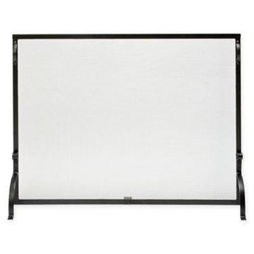 UniFlame Single-Panel Screen Sparkguard in Black