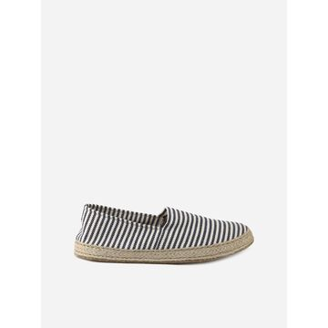 Eleventy Blue Striped Canvas Espadrilles