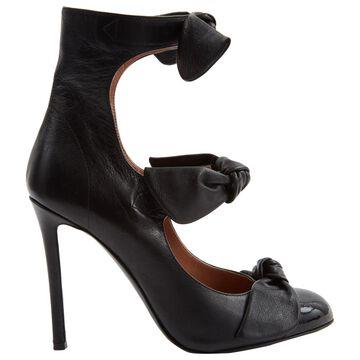 Marco De Vincenzo Black Leather Heels