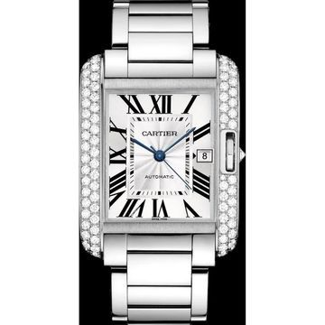 Cartier Men's WT100010 'Tank' Stainless Steel Watch