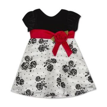 Rare Editions Baby Girls Flocked Dress