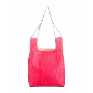 Moire Mini Chain Bag Red
