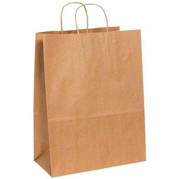 ''Box Partners Paper Shopping Bags 13'''' x 7'''' x 17'''' Kraft 250/Case BGS106K''