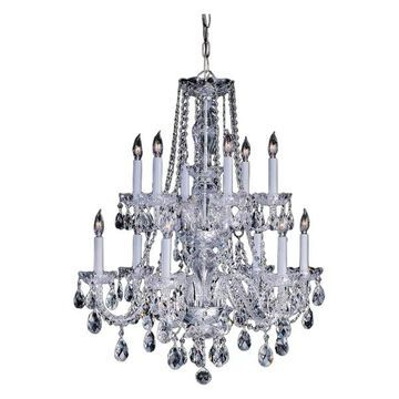 Crystorama 1137-PB-CL-MWP Traditional Crystal - Six Light Chandelier