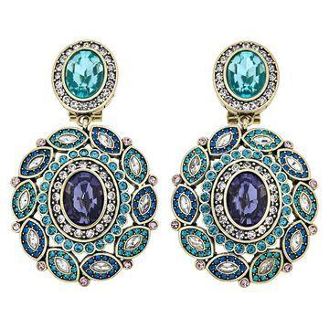 Heidi Daus Enchante Oval Crystal Drop Earrings
