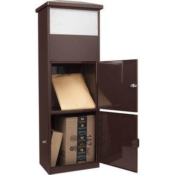 MPB-600 Brown Parcel Box with Package Compartment by Barska