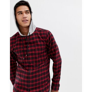 Another Influence hooded check shirt