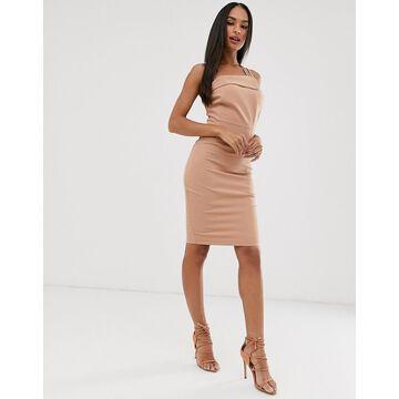 Vesper strappy one shoulder dress-Pink
