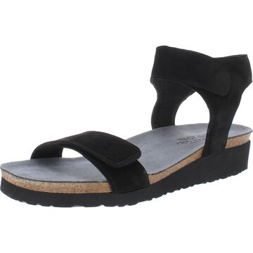 Naot Alba Women's Leather Two Tone Adjustable Ankle Wrap Sandals