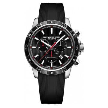 Raymond Weil Men's 8560-SR1-20001 'Tango' Chronograph Black Rubber Watch