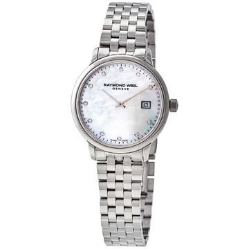 Raymond Weil Toccata Quartz Diamond White Mother of Pearl Dial Ladies Watch 5985-ST-97081