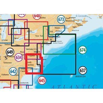 Navionics MSD/645PP MAP, NORTH CAROLINA Nautical Charts