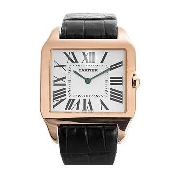 Cartier Men's W2006951 'Santos' Brown Leather Watch